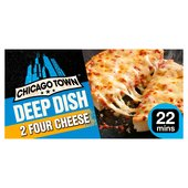 Chicago Town 2 Deep Dish Four Cheese Pizzas 2 x 155g