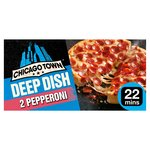 Chicago Town 2 Deep Dish Pepperoni Pizzas 2 x 160g