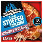 Chicago Town Takeaway Large Stuffed Pepperoni Pizza