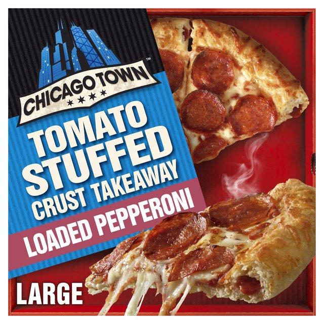 Chicago Town Takeaway Large Stuffed Pepperoni Pizza (Tomato stuffed crust)