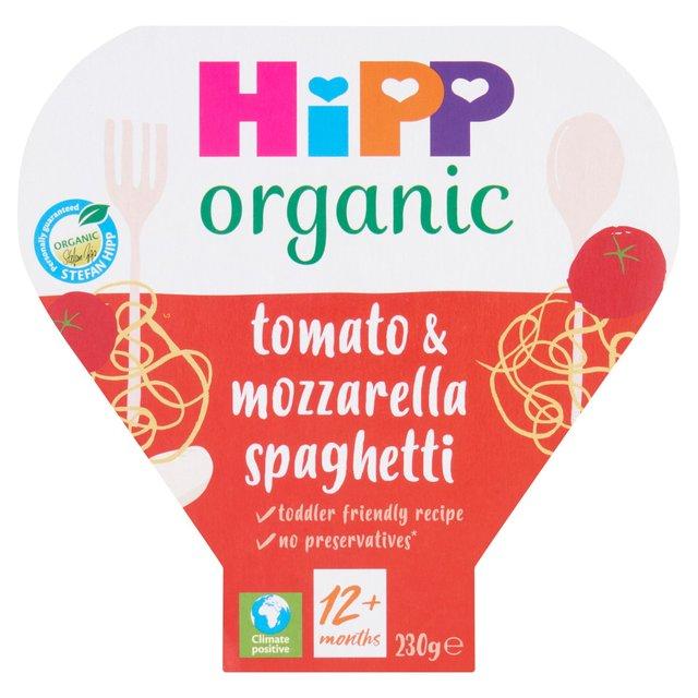 HiPP Organic Tomato & Mozzarella Spaghetti Toddler Tray Meal 1-3 Years
