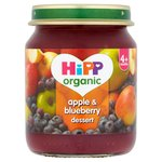 HiPP Organic 4 Mths+ Apple & Blueberry Dessert