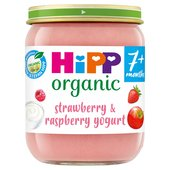 HiPP Organic 7 Mths+ Strawberry & Raspberry Yoghurt