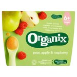 Organix 4 Mths+ Pear, Apple & Raspberry Compotes