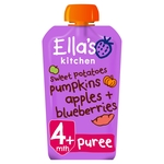 Ella's Kitchen 4 Mths+ Organic Sweet Potato, Pumpkin, Apple & Blueberries