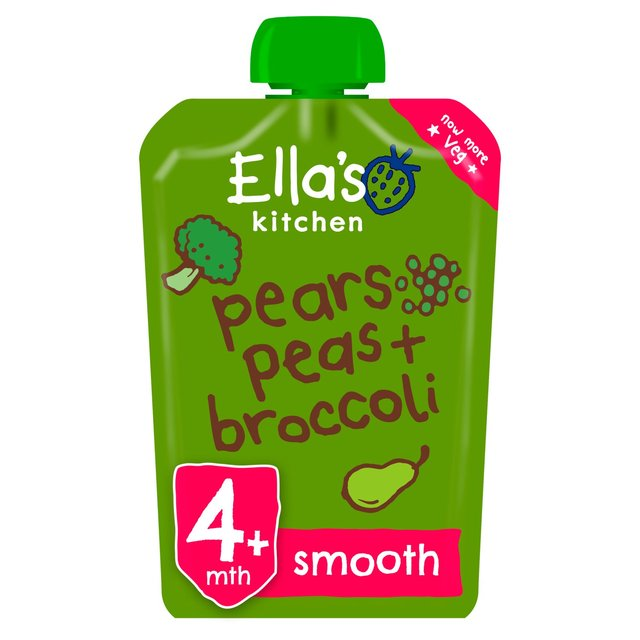 Ella's Kitchen 4 Mths+ Organic Broccoli, Pears & Peas