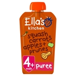 Ella's Kitchen 4 Mths+ Organic Butternut Squash, Carrots, Apples & Prunes