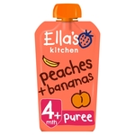 Ella's Kitchen 4 Mths+ Organic Peaches & Bananas