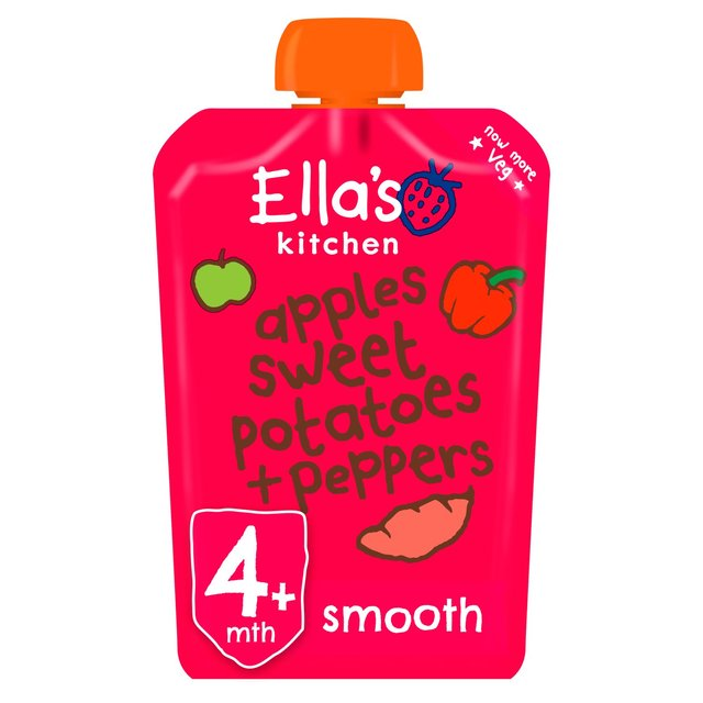 Ella's Kitchen 4 Mths+ Red Peppers, Sweet Potatoes & Apples
