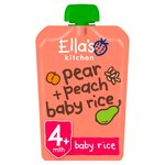 Ella's Kitchen 4 Mths+ Organic Peaches, Pears & Baby Rice