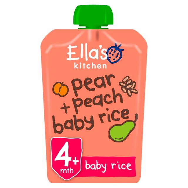 Morrisons Ella S Kitchen 4 Mths Organic Peaches Pears