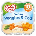 Cow & Gate Creamy Veggies & Cod Baby Meal Tray