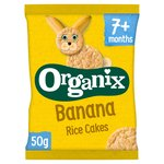 Organix Banana Organic Baby Finger Food Snack Rice Cakes