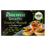 John West Smoked Mussels in Sunflower Oil (85g)