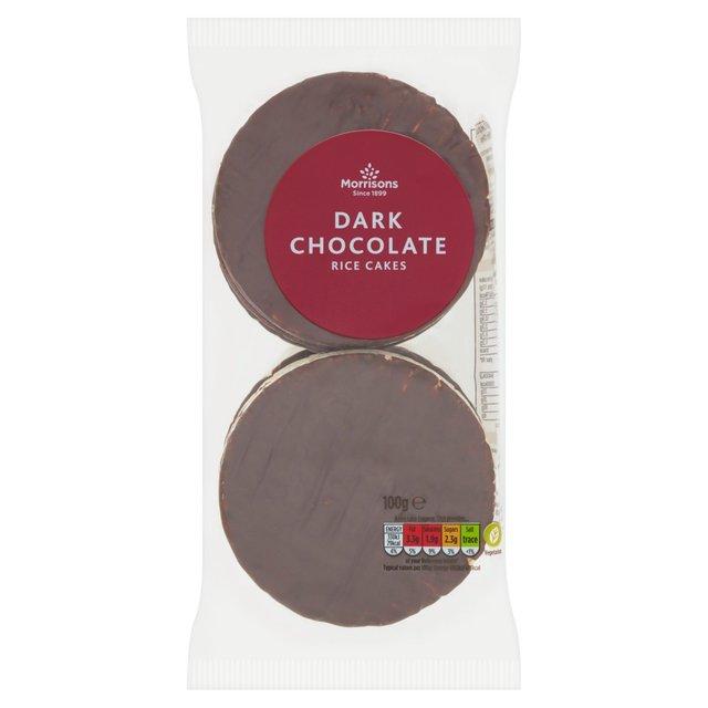 Morrisons Morrisons Thin Dark Chocolate Rice Cakes 100g