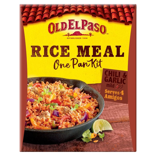 Morrisons: Old El Paso Chili & Garlic One Pan Rice Kit 355g(Product ...