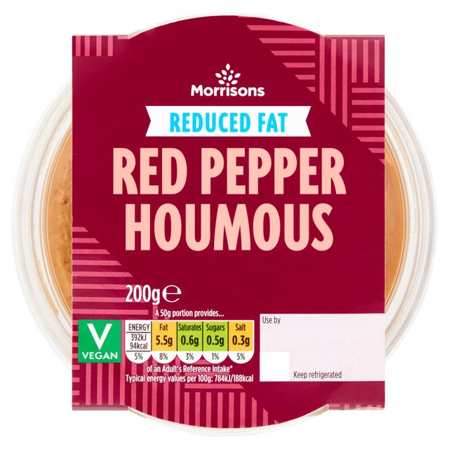 Morrisons 30% Reduced Fat Red Pepper Houmous
