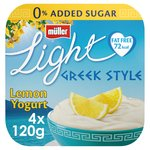 Muller Light Greek Style Luscious Lemon Yoghurts