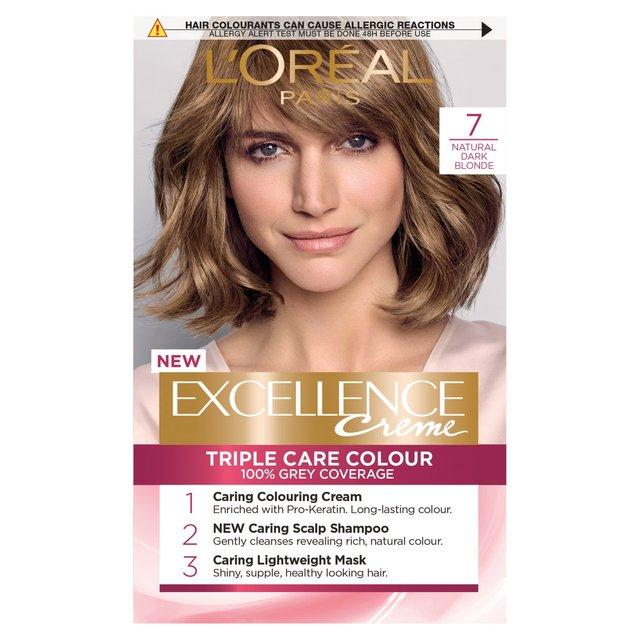 Morrisons L Oreal Excellence Creme Natural Dark Blonde 7