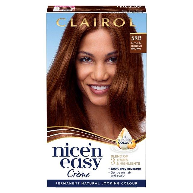 Nice'N Easy Permanent Hair Colour 5RB Natural Medium Reddish Brown (118C)