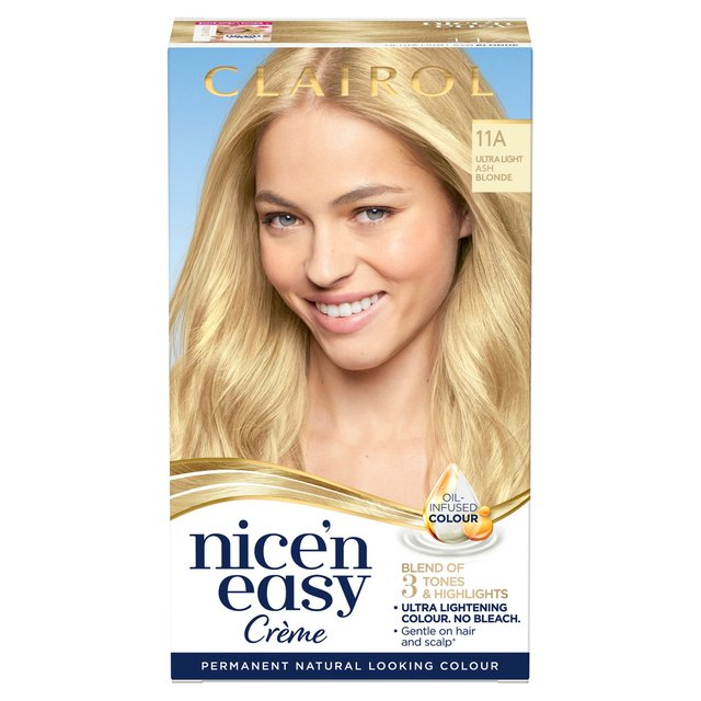 Nice N Easy Permanent Hair Dye 11a Ultra Light Ash Blonde Morrisons