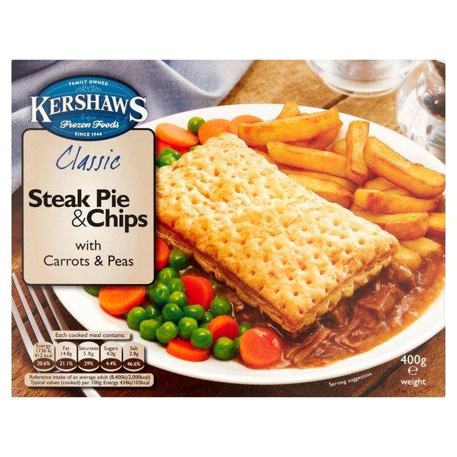 Morrisons: Kershaws Classic Steak Pie & Chips 400g(Product ...
