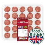 Morrisons British Beef Meatballs 25 Pack
