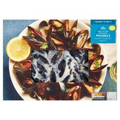 Morrisons Fishmonger Scottish Mussels in White Wine Sauce
