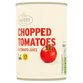 M savers Chopped Tomatoes in Tomato Juice