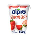 Alpro Strawberry with Rhubarb Soya Yogurt