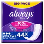 Always Dailies Extra Protect Panty Liners Long Plus 44 liners