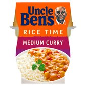 Uncle Bens Rice Time Medium Curry Ready Meal Pot