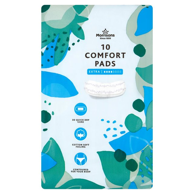 12 Pads Morrisons Maxi Towels Night Time