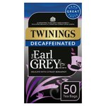 Twinings Decaf Earl Grey Tea Bags 50s