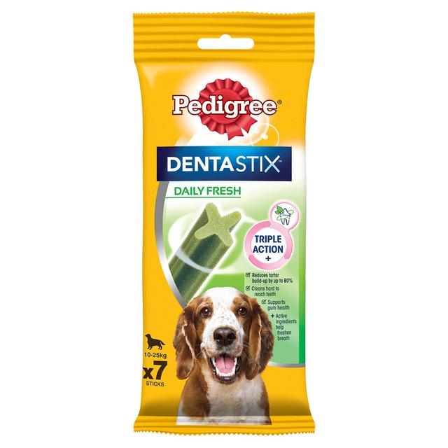 Pedigree Dentastix Fresh Daily Adult 1+ Medium Dental Dog Treats 7 Sticks