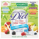 Irish Yogurts Diet Fat Free Fruit Variety Yogurts