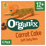 Organix Goodies Organic Carrot Cake Soft Oaty Bars 6s