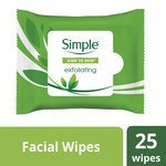 Simple Kind to Skin Exfoliating Facial Wipes 25 Wiipes