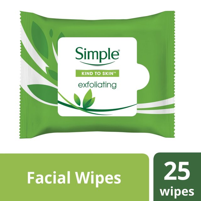 Simple Kind to Skin Exfoliating Facial Wipes