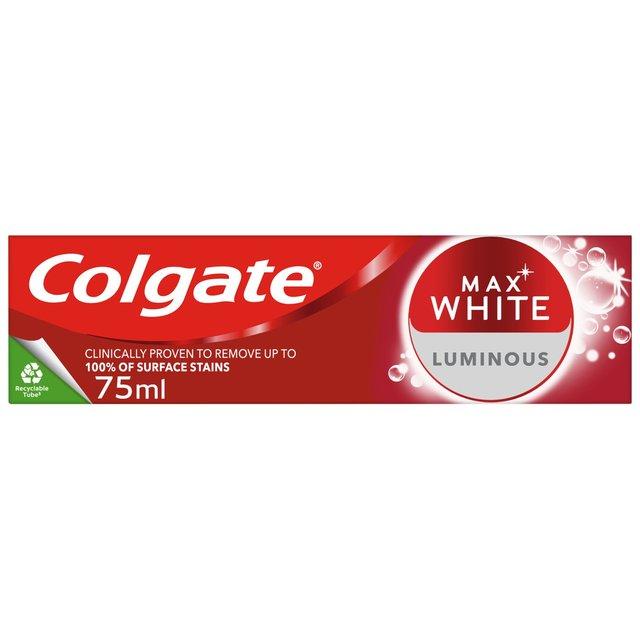 Colgate Max White Luminous Sparkling Mint Whitening Toothpaste
