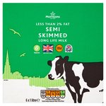Morrisons Long Life British Semi Skimmed Milk