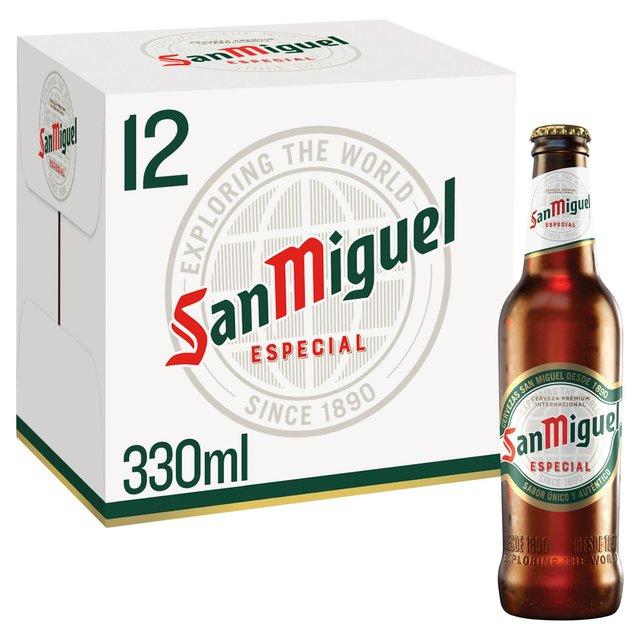 Morrisons: San Miguel Especial Premium Lager Bottles 12 x 330ml