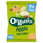 Organix Apple Organic Baby Finger Food Snack Rice Cakes