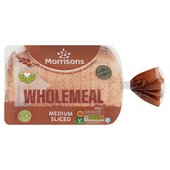 Morrisons Medium Wholemeal Loaf