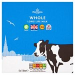 Morrisons Long Life British Whole Milk