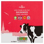 Morrisons Long Life British Skimmed Milk