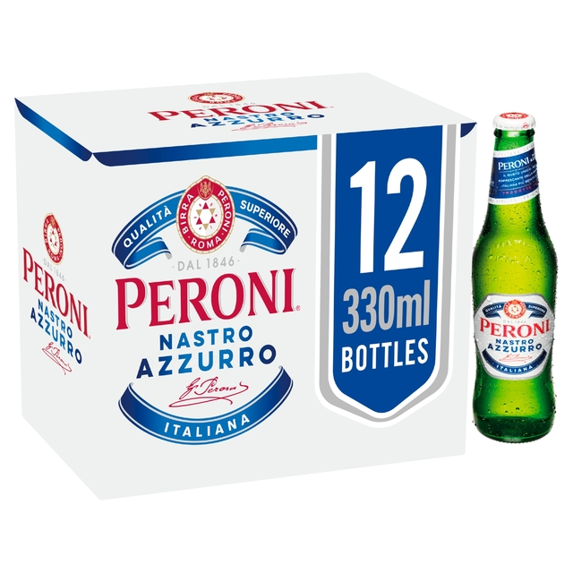 Morrisons: Peroni Nastro Azzurro 12 x 330ml(Product Information)