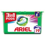 Ariel 3in1 Pods Colour & Style Washing Capsules 19 washes