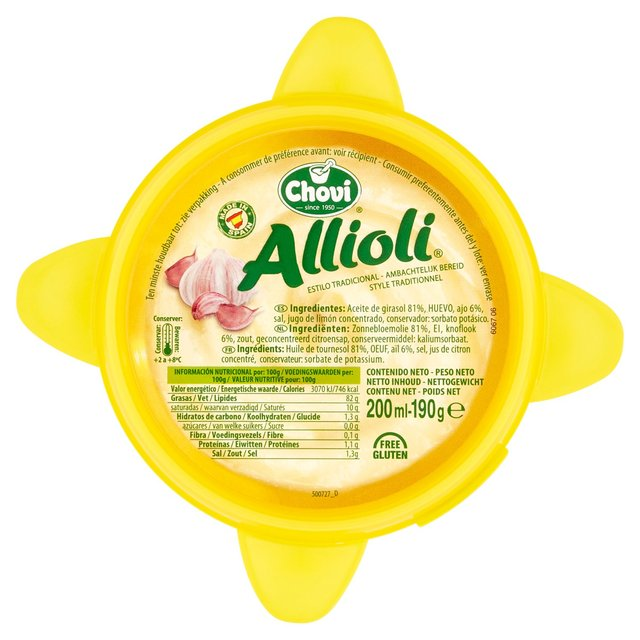 Morrisons: Chovi Allioli Creamy Garlic Dip 190g(Product Information)
