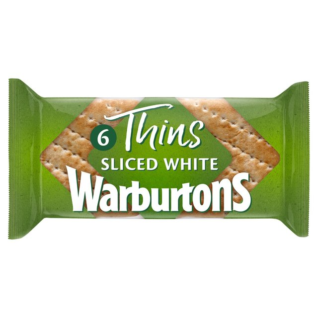 Warburtons Soft White Sliced Sandwich Thins